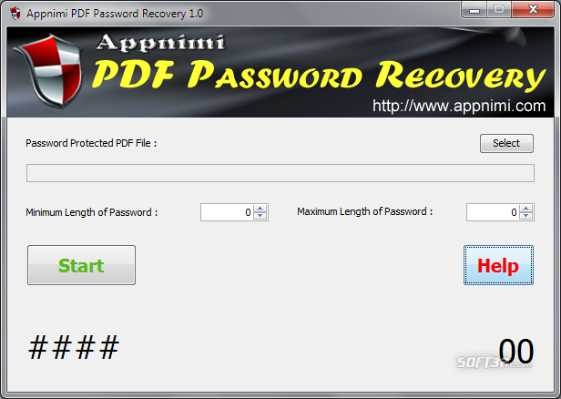 Appnimi PDF Password Recovery Screenshot 2