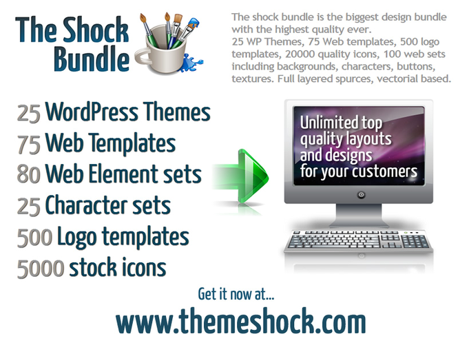 WordPress Themes The shock bundle Screenshot