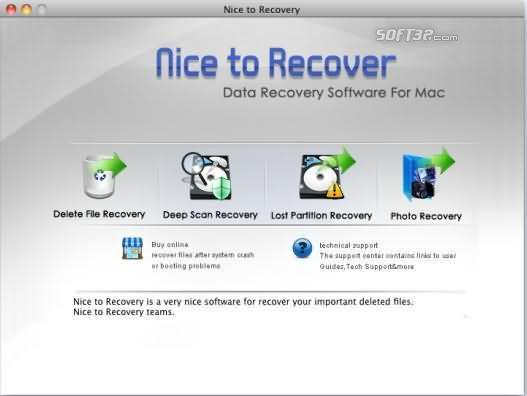 Nice to Recover Data for Mac Screenshot 3