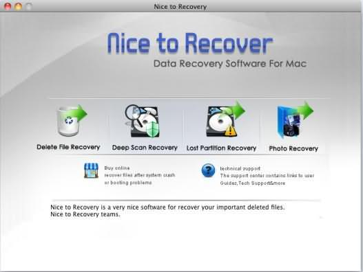 Nice to Recover Data for Mac Screenshot