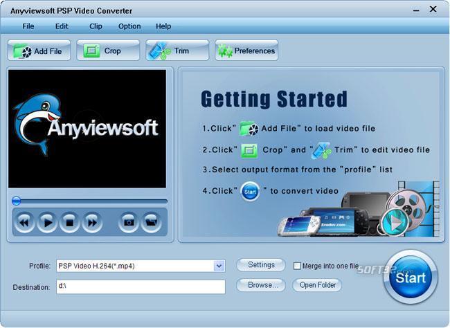 Anyviewsoft PSP Video Converter Screenshot 3