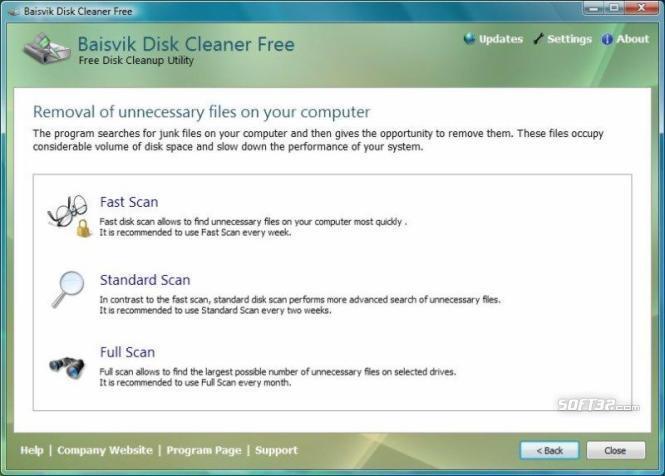 Baisvik Disk Cleaner Free Screenshot 3