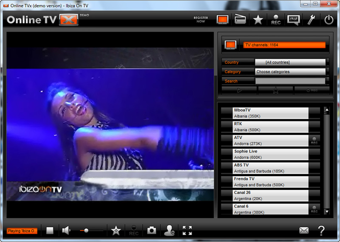 Online TVX Screenshot