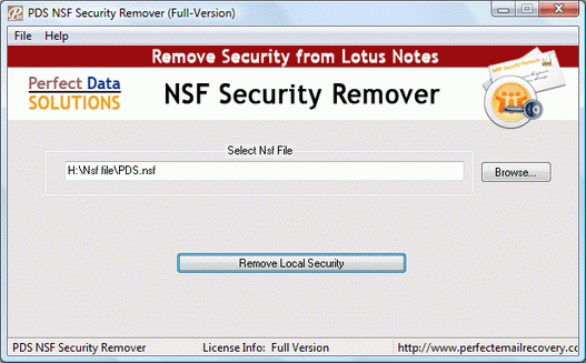 Lotus Notes Security Breaker Screenshot 1