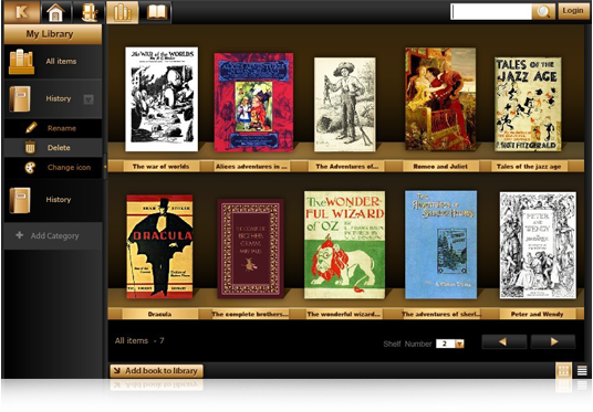 KooBits eBook Reader Screenshot