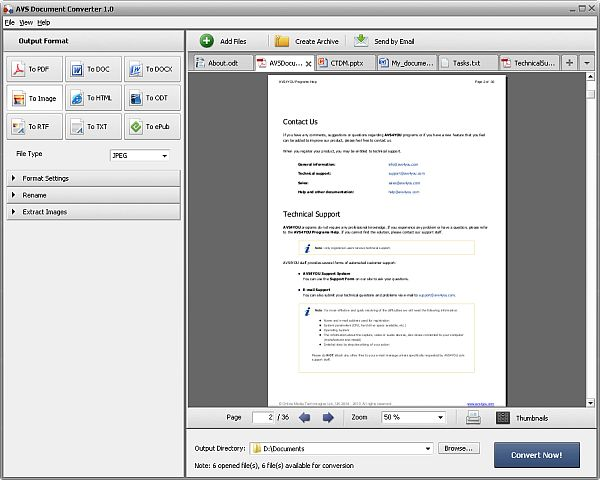 AVS Document Converter Screenshot