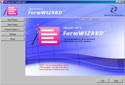 DBConvert FormWizard for MySQL Screenshot 2