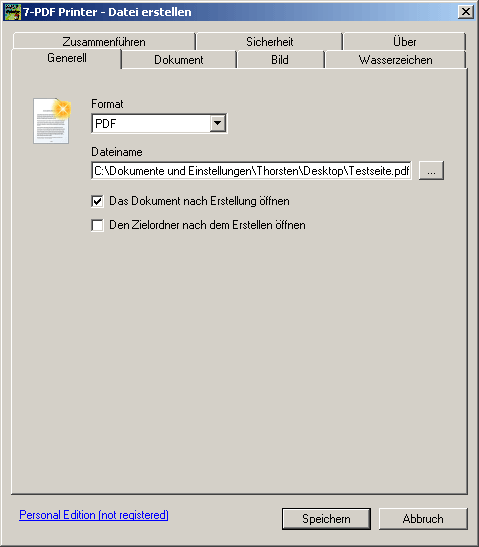 7-PDF Printer Screenshot