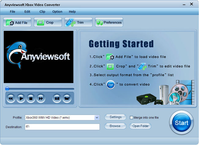 Anyviewsoft Xbox Video Converter Screenshot 1