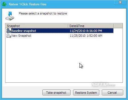 Keriver 1-Click Restore Free Plugin Screenshot 3