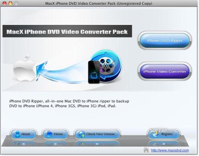 MacX iPhone DVD Video Converter Pack Screenshot 3