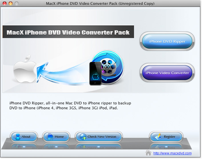 MacX iPhone DVD Video Converter Pack Screenshot
