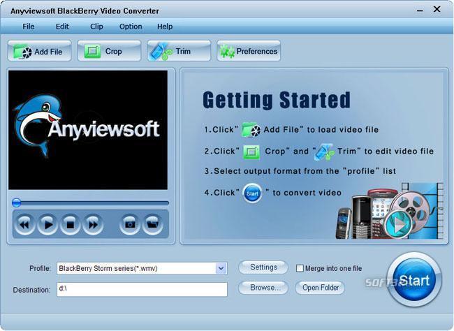 Anyviewsoft BlackBerry Video Converter Screenshot 3