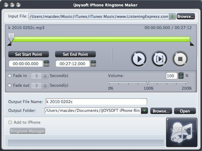 iJoysoft iPhone Ringtone Maker for mac Screenshot 3