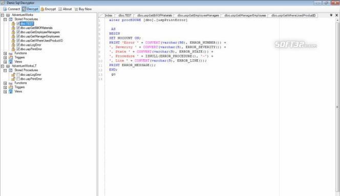 Deniz SQL Decryptor Screenshot 2