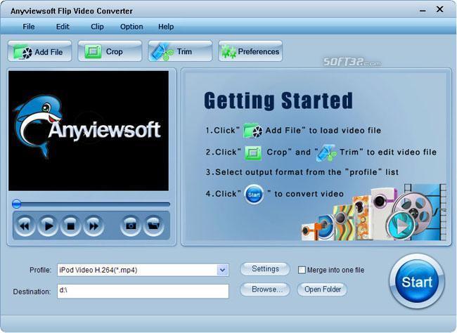 Anyviewsoft Flip Video Converter Screenshot 2