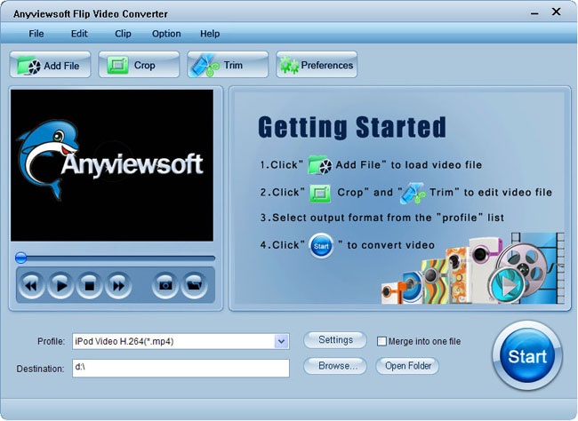 Anyviewsoft Flip Video Converter Screenshot 3