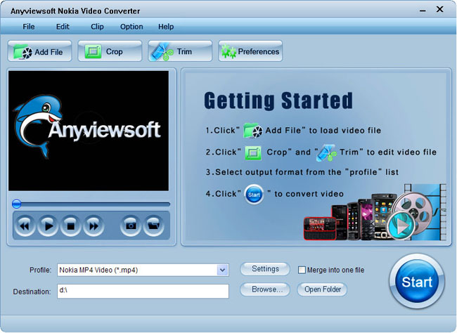 Anyviewsoft Nokia Video Converter Screenshot