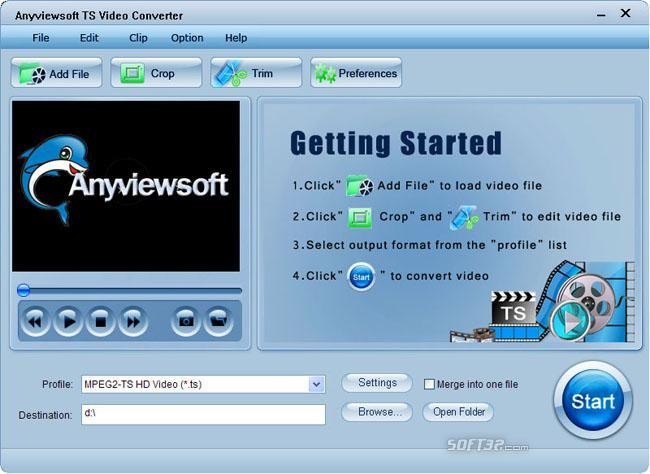 Anyviewsoft TS Video Converter Screenshot 2