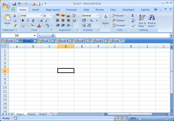 Super Excel Tab Screenshot