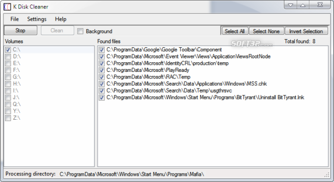 K Disk Cleaner Screenshot 3