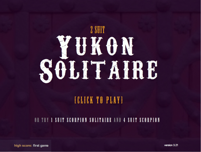2 Suited Yukon Solitaire Screenshot
