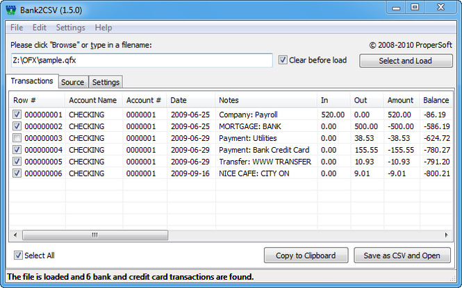 Bank2CSV Pro Screenshot 1