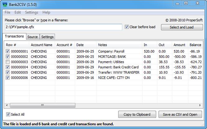 Bank2CSV Pro Screenshot