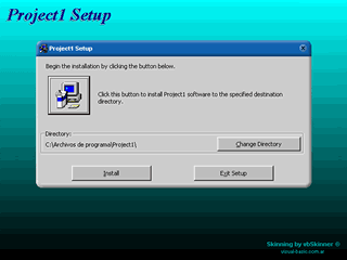 Multilingual VB6 Setup program with skin Screenshot