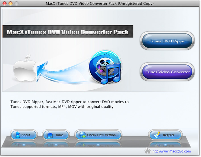 MacX iTunes DVD Video Converter Pack Screenshot