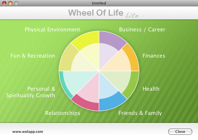 Wheel Of Life Lite Mac Screenshot