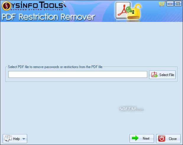 SysInfoTools PDF Restriction Remover Screenshot 2