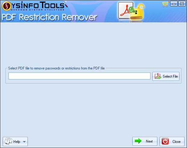 SysInfoTools PDF Restriction Remover Screenshot