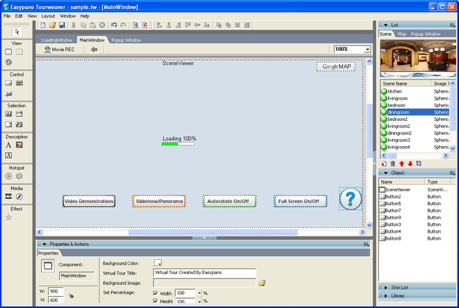 Tourweaver 6.00 Professional for Windows Screenshot