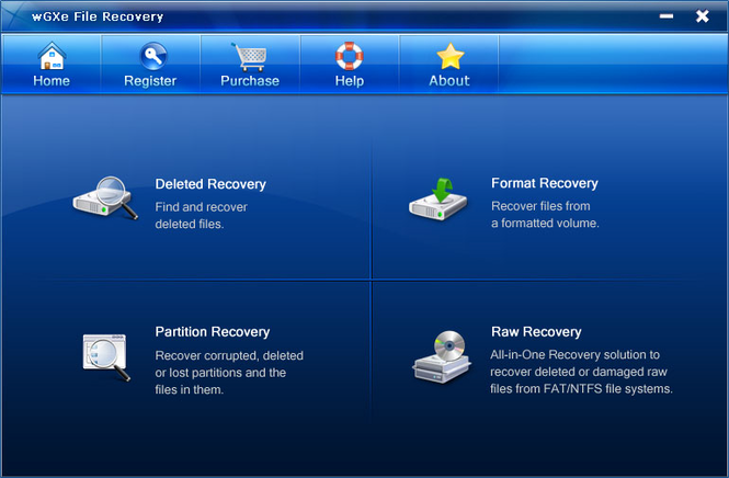 wGXe File Recovery Screenshot 1