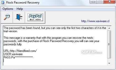 Flock Password Recovery Screenshot 2