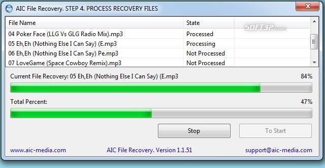 AIC File Recovery Screenshot 2