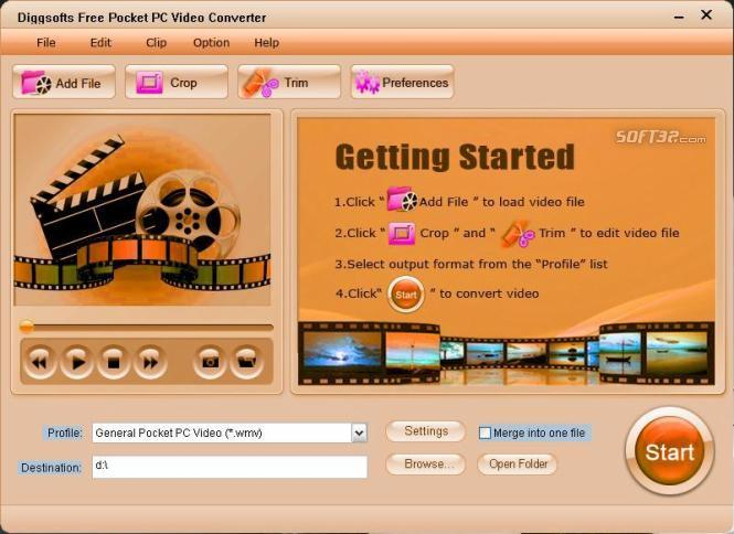 Free Pocket PC Video Converter Screenshot 2