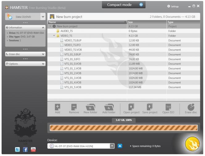 Hamster Free Burning Studio Screenshot 3