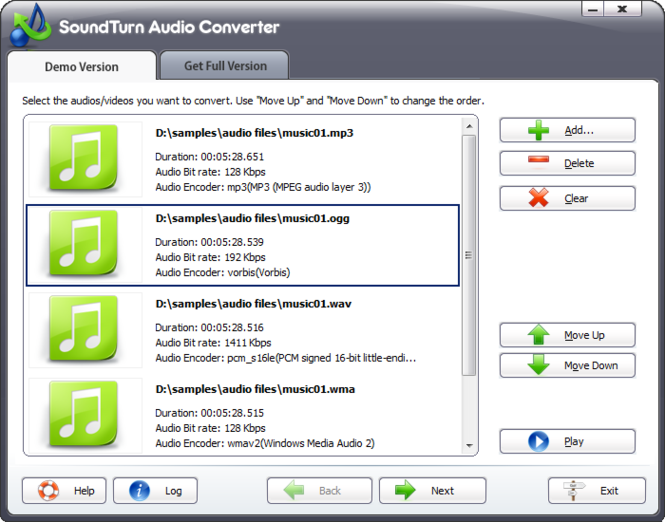 SoundTurn Audio Converter Screenshot 1