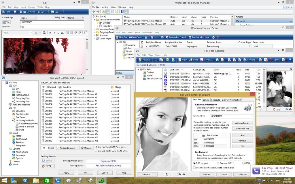 Fax Voip T38 Fax & Voice Screenshot 1
