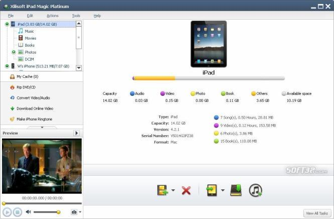Xilisoft iPad Magic Platinum Screenshot 2