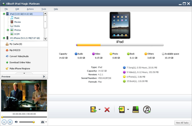 Xilisoft iPad Magic Platinum Screenshot