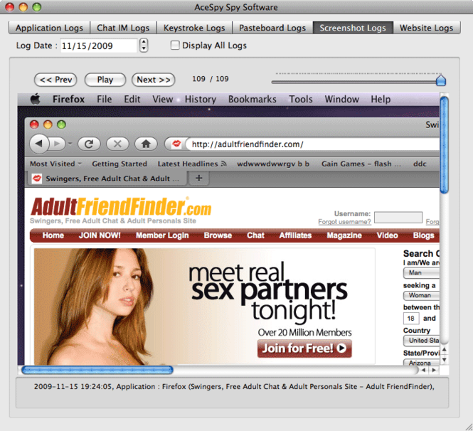 AceSpy Mac Spy Software Screenshot