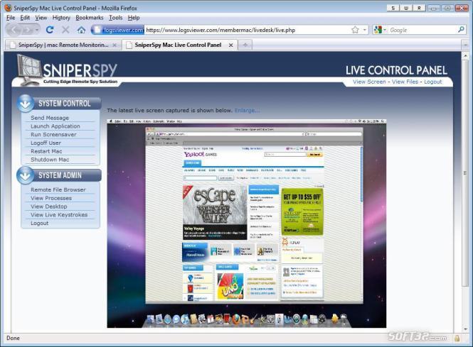 SniperSpy Mac Screenshot 2