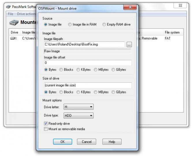 OSFMount Screenshot 4