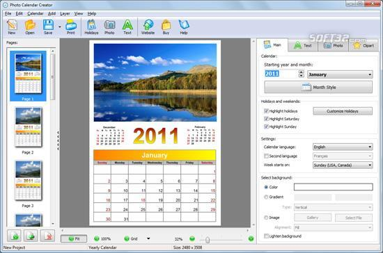Photo Calendar Creator Screenshot 3