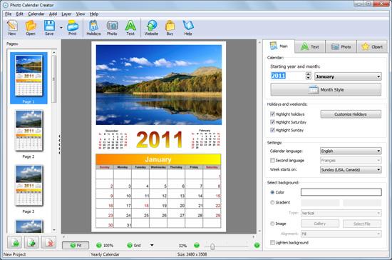 Download Photo Calendar Creator 5.35