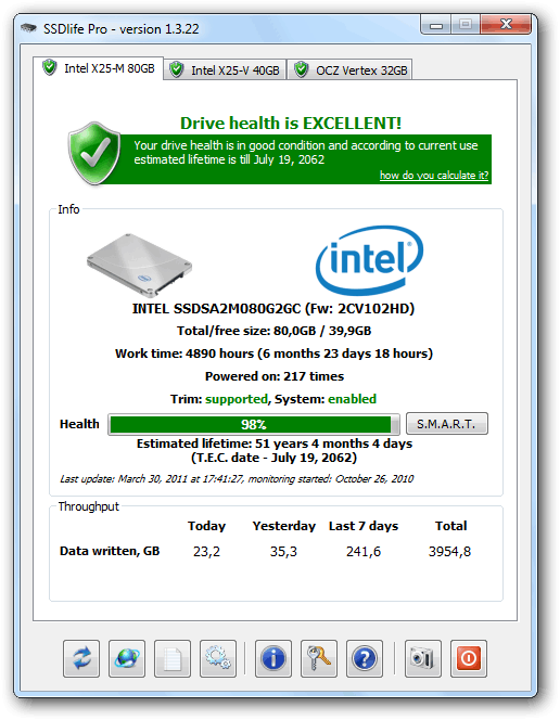 SSDLife Pro Screenshot