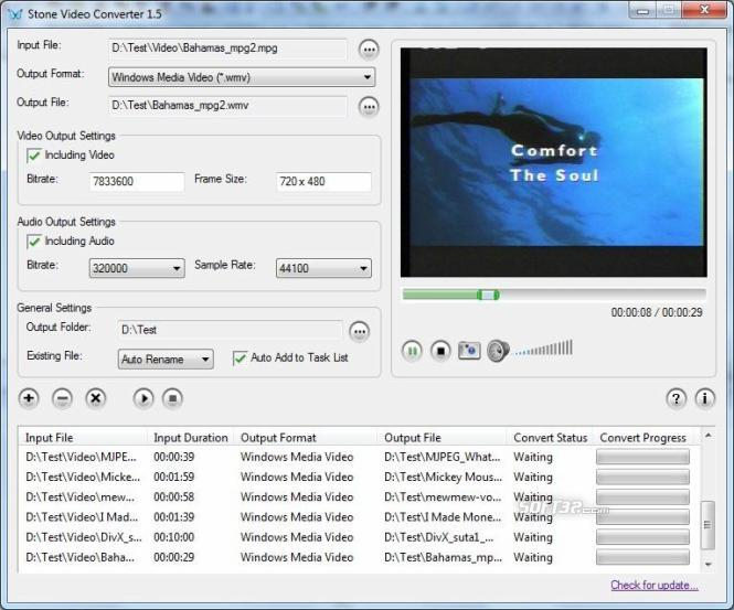Stone FLV Converter Screenshot 2